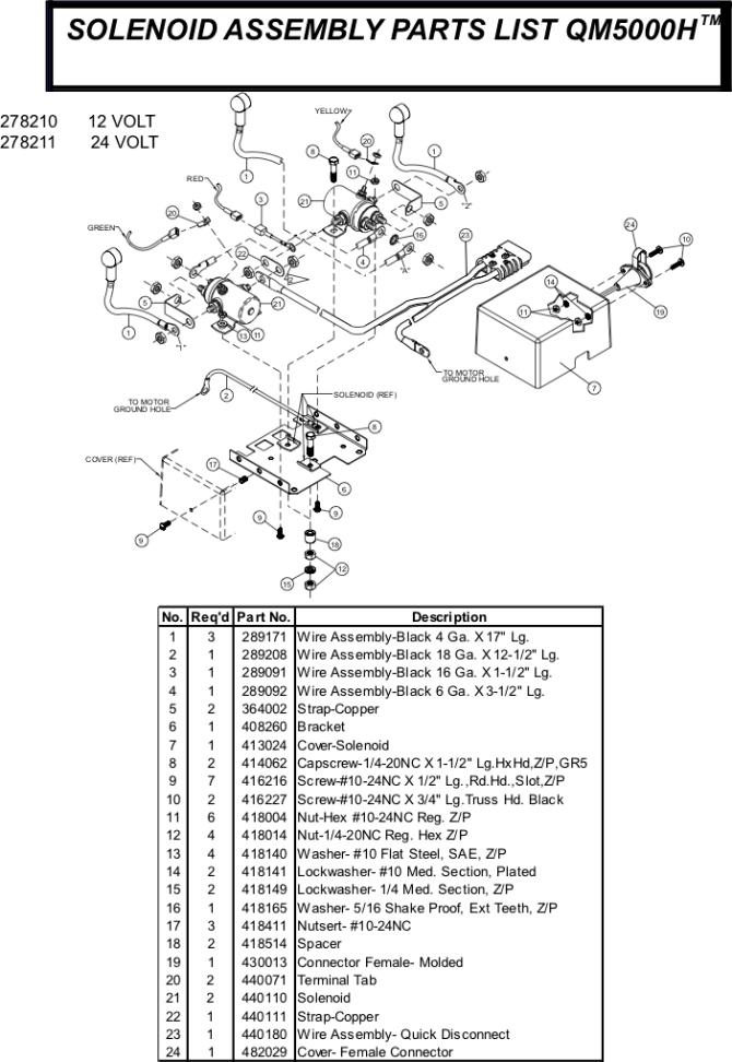 ramsey winch qm 5000 parts
