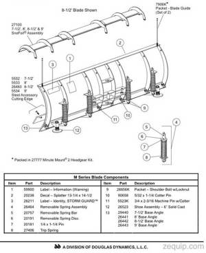 Fisher HD Snow Plow Blade Parts