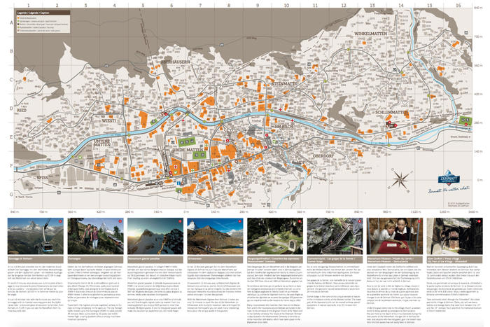 Street map of Zermatt   Zermatt  Switzerland Street map of Zermatt