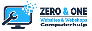 Zero & One Logo voor website header normaal