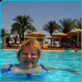 Ilse im Pool