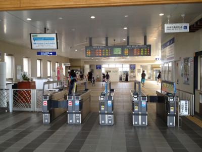 JR嵯峨野嵐山駅改札