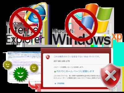 Internet Explorerが危険