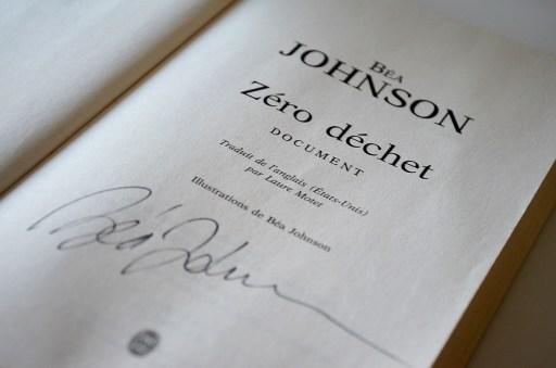 Zéro déchet de Béa Johnson dédicace