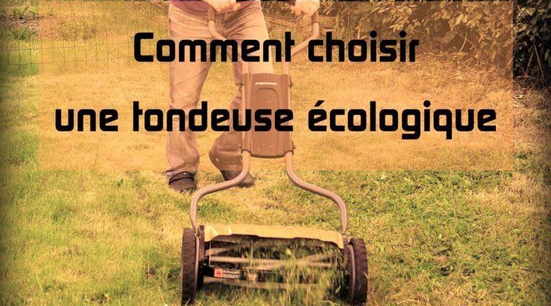 Tondeuse écologique manuelle zéro déchet