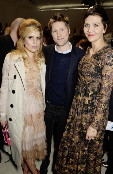 Christopher Bailey, Paloma Faith e a atriz Maggie Gyllenhaal