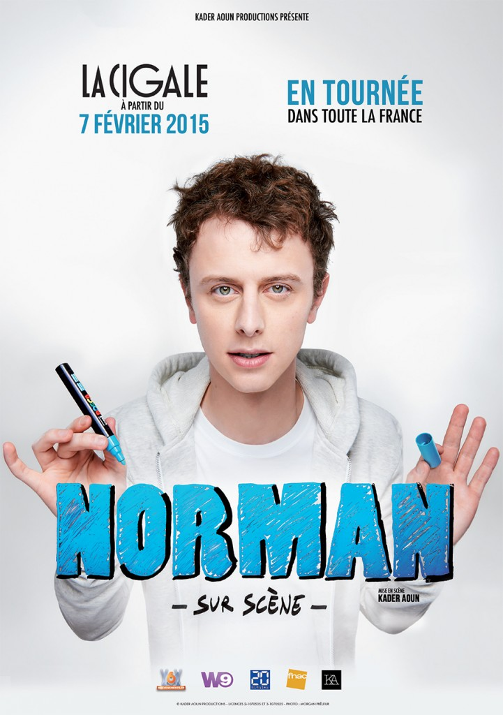 TF1 : Norman son spectacle à la cigale