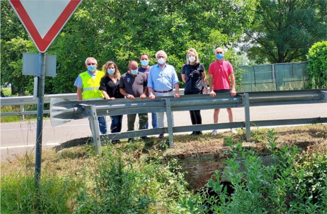 Castione Marchesi, entro il mese rifatto ponte sul canale della Sp588R