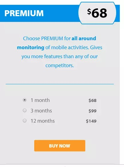 FlexiSPY Premium Version Price