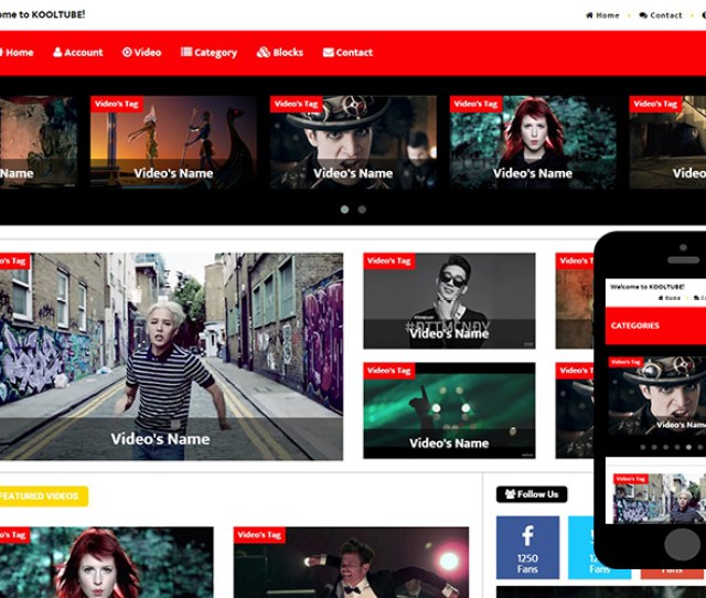 Zkooltube Free Bootstrap Theme