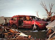 tornado damage cars