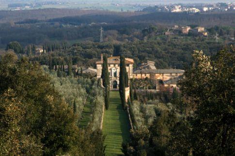 La Villa di Celsa vista dal Cetinale