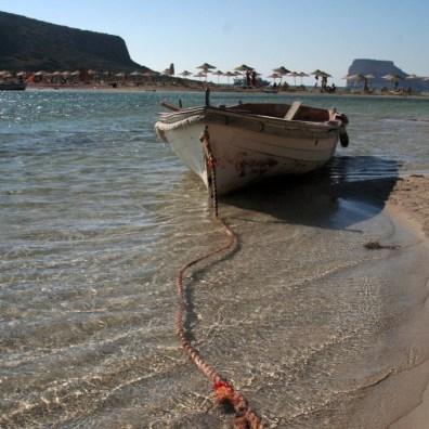 Barca nella laguna di Balos