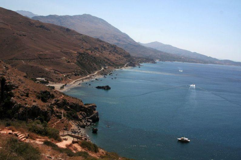 La costa vicino a Preveli