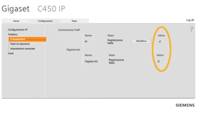 Elenco degli account VoIP