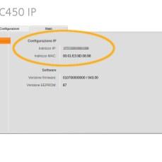 Stato e MAC address dell'apparecchio