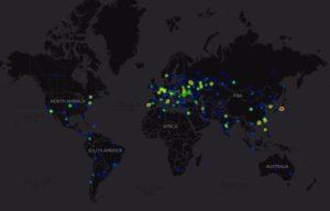 Heatmap #WannaCry dopo 24h