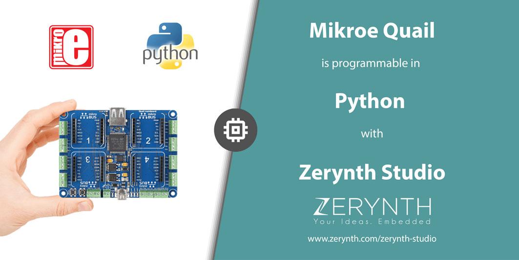 Program Mikroe Quail Board in Python with Zerynth!