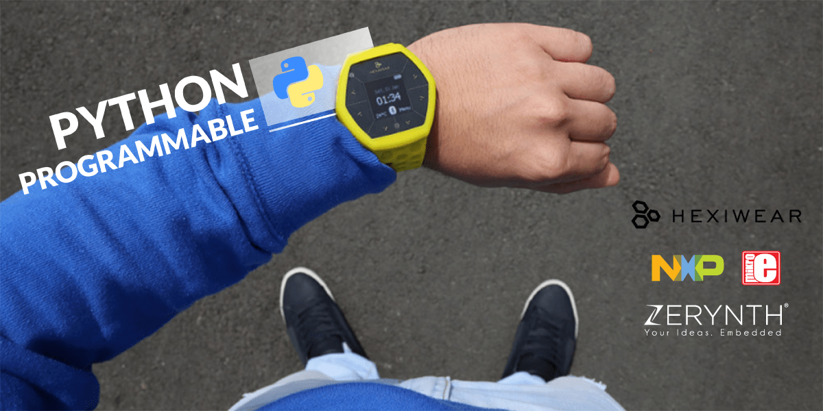 Programming Hexiwear (wearables + IoT) in Python using Zerynth