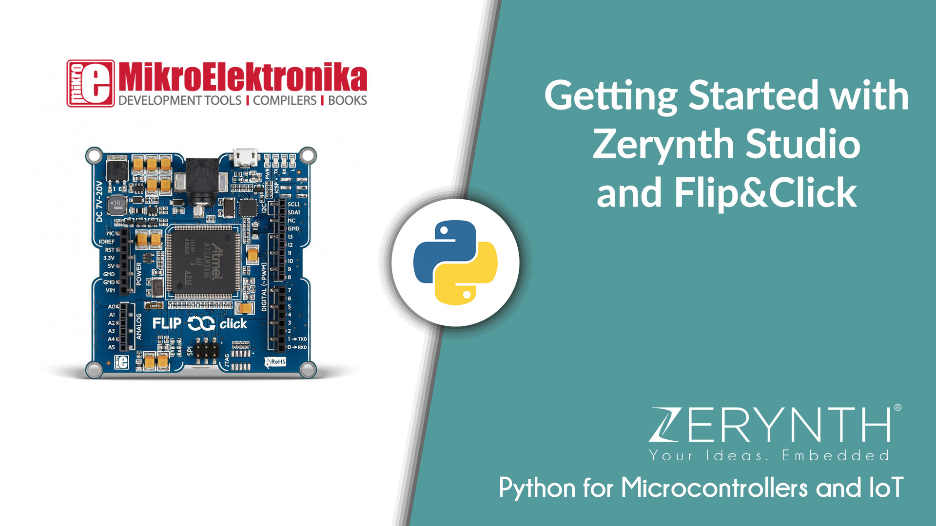 Video Tutorial: Python on Flip&Click via Zerynth Studio