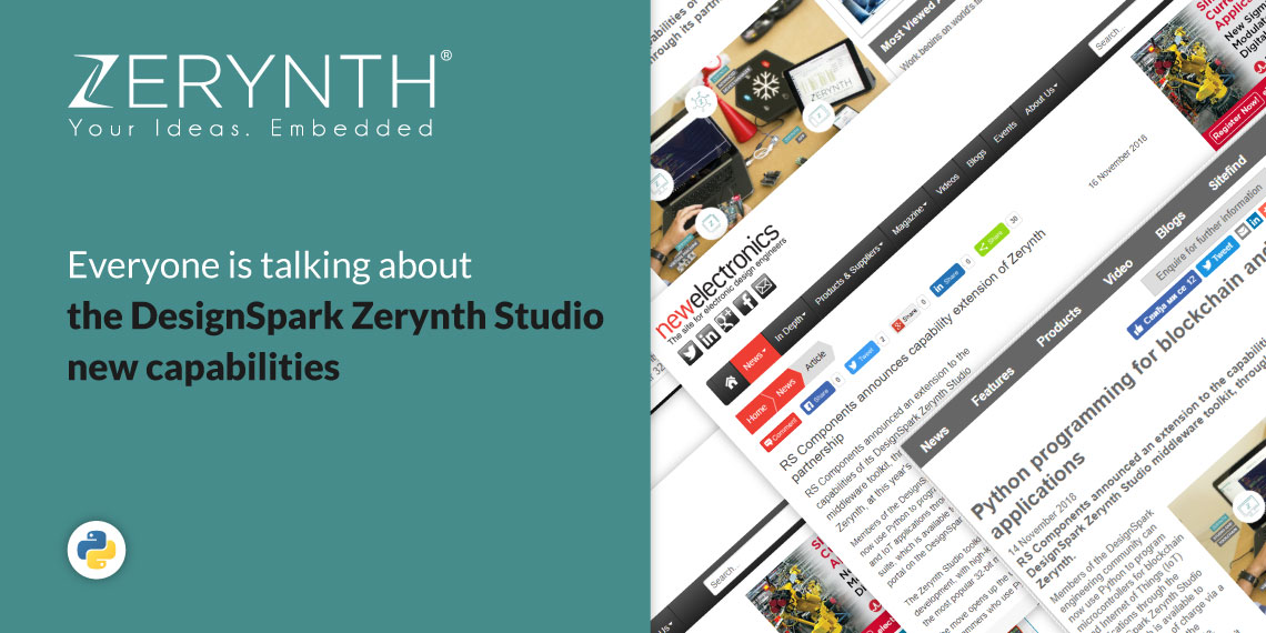 Everyone is talking about the DesignSpark Zerynth Studio new capabilities