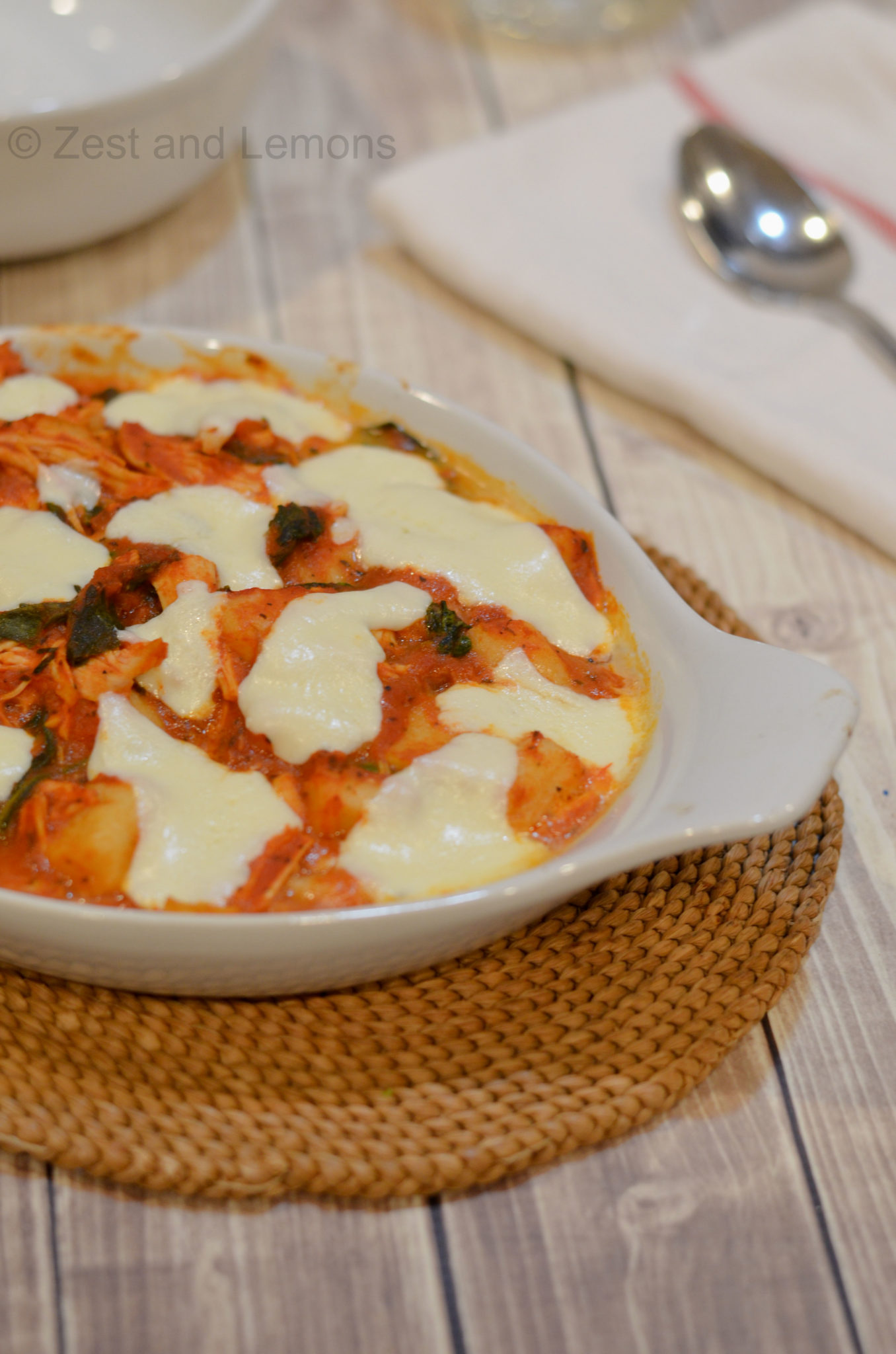 Baked Chicken and Spinach Gnocchi