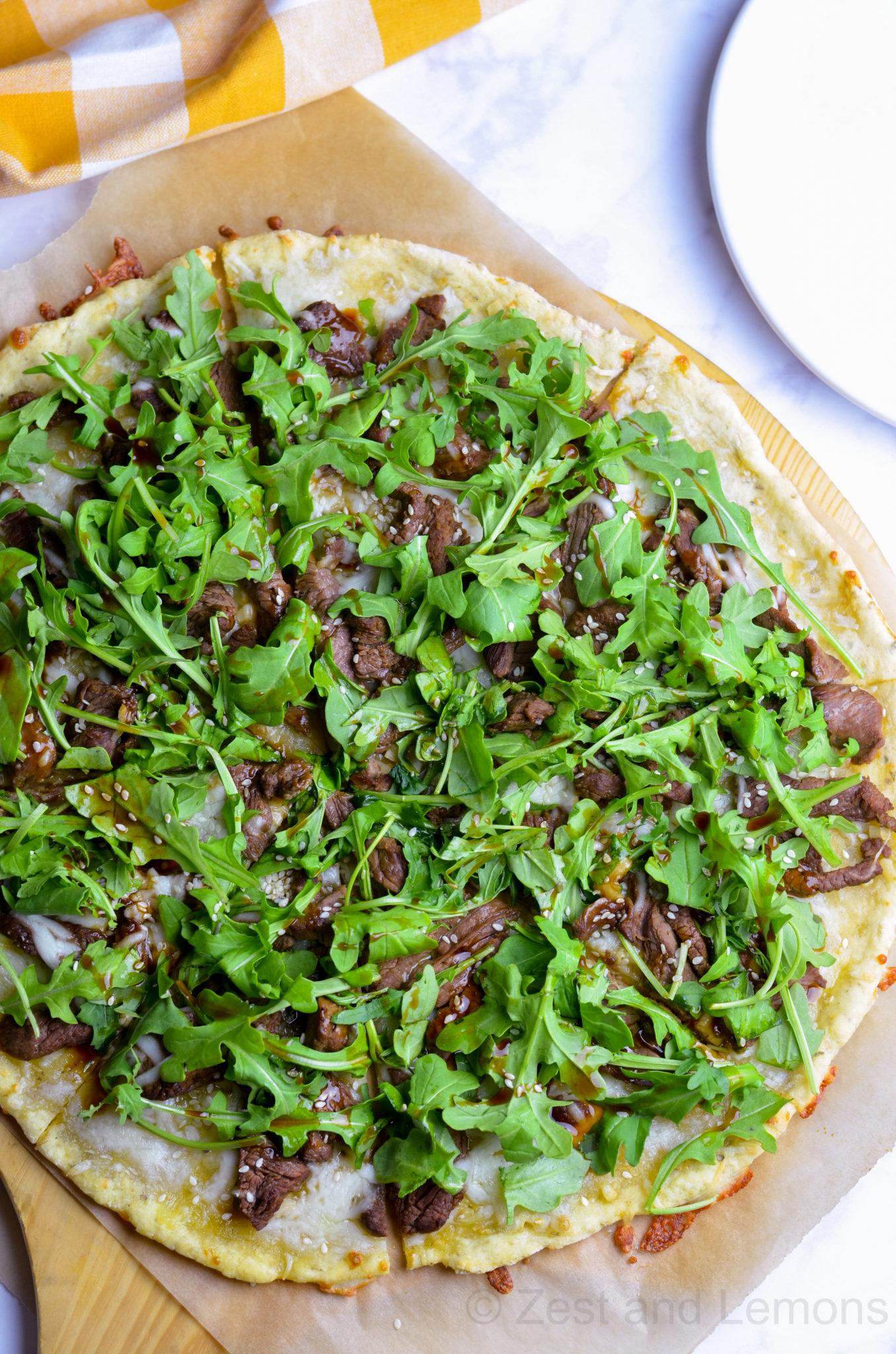 Gluten Free Korean BBQ Pizza