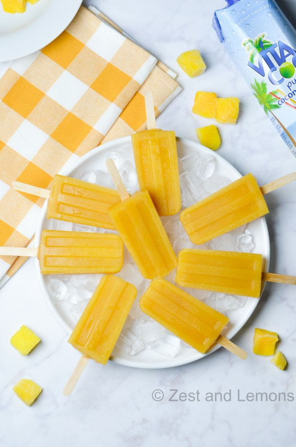 mango orange popsicles