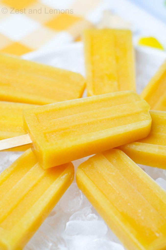 mango orange popsicles