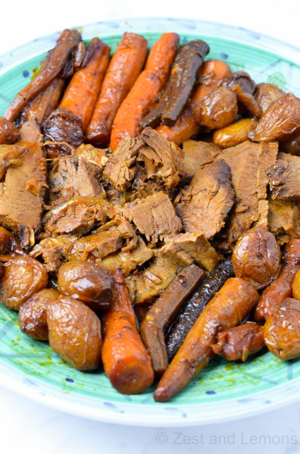 The BEST beef brisket recipe! (gluten free | cooking | recipes | holiday meals | family meals)- Zest and Lemons