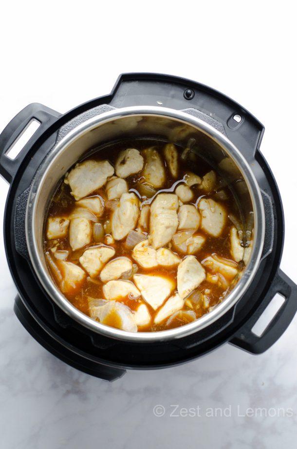 Instant Pot Orange Chicken, easy weeknight gluten free dinner - Zest and Lemons