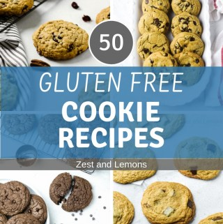 50 Gluten Free Cookie Recipes! - Zest and Lemons #glutenfree #glutenfreecookies
