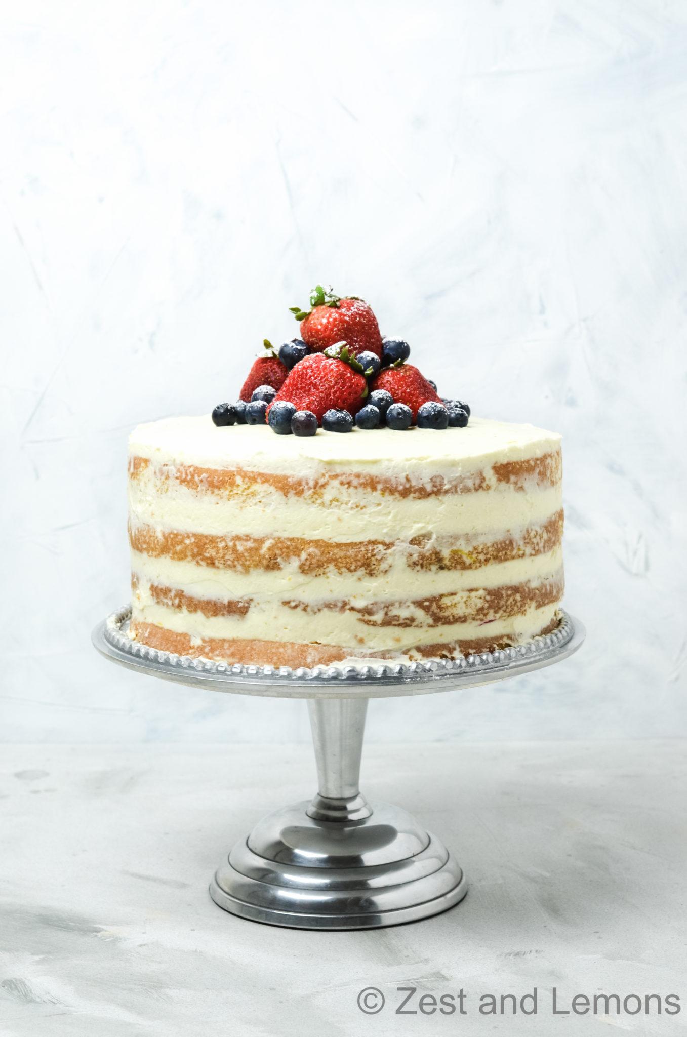 Gluten Free Strawberry-Citrus Naked Cake