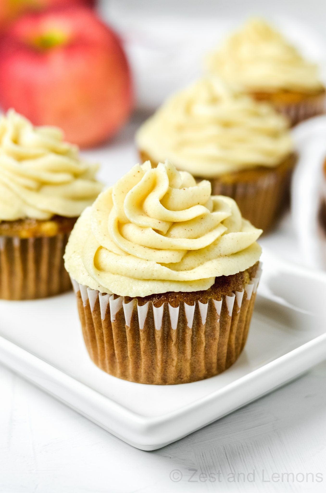 Gluten Free Apple Spice Cupcakes with Cinnamon Mascarpone Frosting