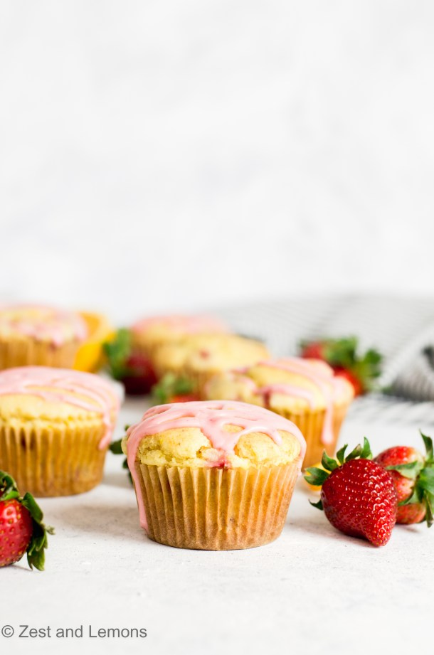 Gluten Free Strawberry Orange Muffins - Zest and Lemons