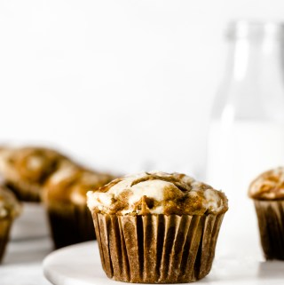 Gluten Free Pumpkin Cheesecake Muffins - Zest and Lemons
