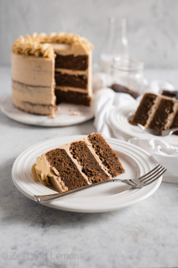 Gluten Free Cappuccino Cake with Espresso Buttercream- Zest and Lemons