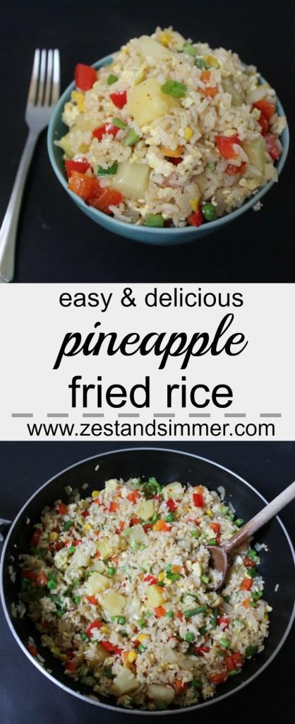 Pineapple Fried Rice Pinterest Image
