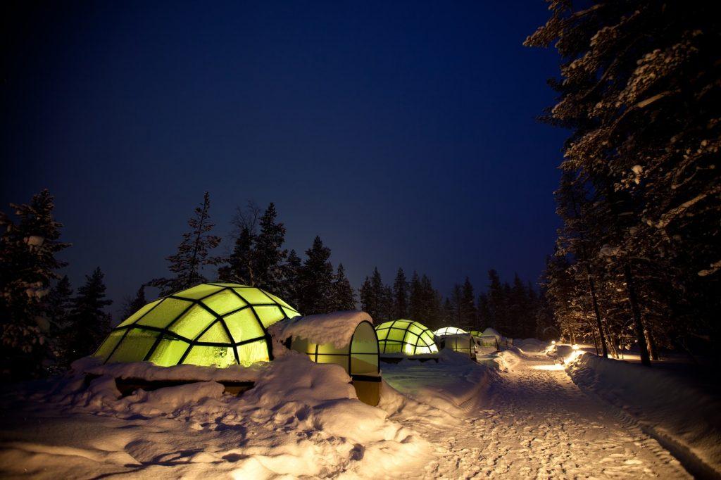 Rent Igloo Finland Northern Lights