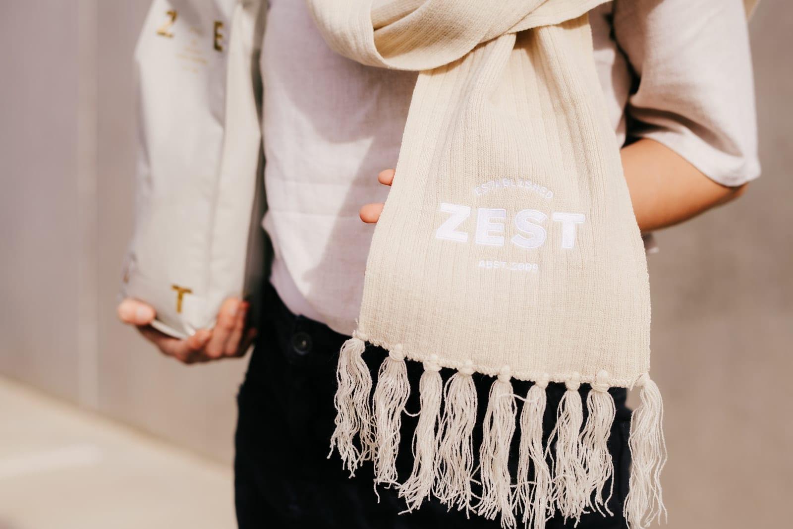 Zest Warm Knit scarf – Natural