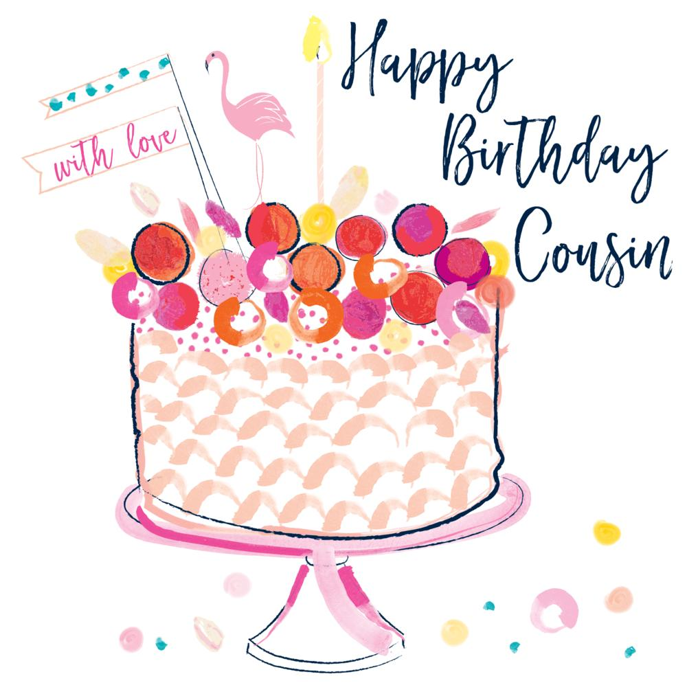 Happy Birthday Cousin With Love Pb247 Zest Gifts Crowborough