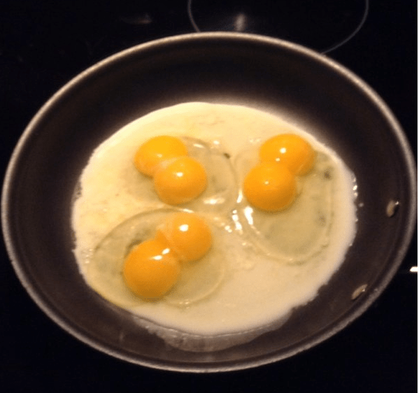 Three double yolks, woah