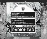 Radiohead: il tour mondiale arriva in Italia