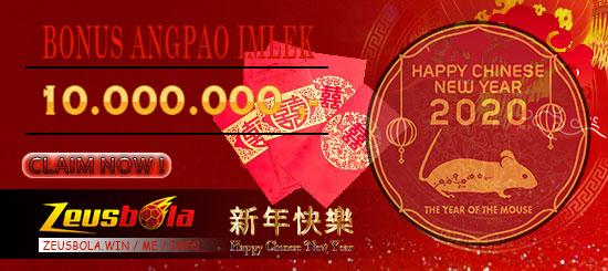 Bonus Promo Imlek Angpao Judi Online Zeusbola 2020