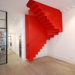 Hanging Red Stairs For A Home In London
