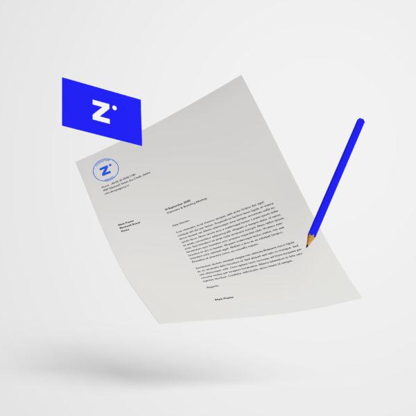 Logo feuille de papier zewebfirm