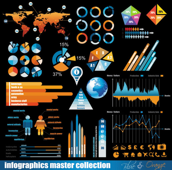 Business data elements vector