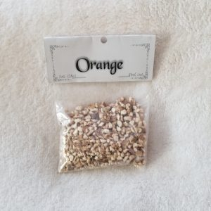 Orange Peel also known as Citrus Sinensis or Sweet Orange. Native to the United States and used in a variety of ways from culinary to decorating. In magic it is a great ingredient in spells involving love, divination, luck and money. 1 oz. in cut form with a citrus scent. Store in an airtight container.