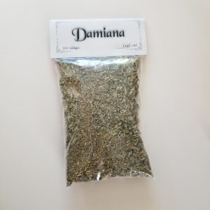 Damiana is most potent in love and lust spells and rituals and those pertaining to visions of an object of love or lust. It is also used in connection to Masculine Energy, Mars, and Fire