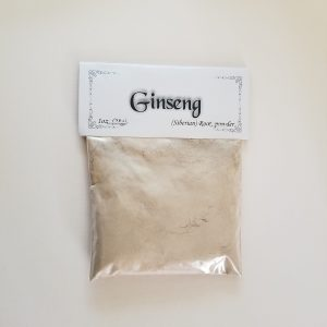 Ginseng is said to increase personal energy and aid in working spells of love, healing and protection. It also has associations with Masculine Energy, the Sun and Fire.